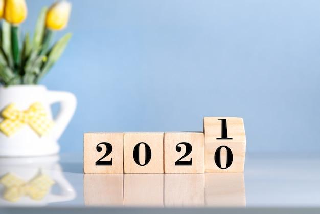 Changement d'année de 2020 à 2021