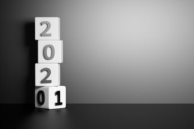 Changement de transition de l'année 2020 à 2021