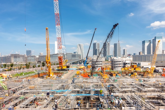 Chantier de construction au japon