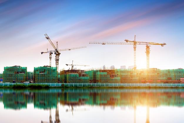 Chantier de construction de gratte-ciel