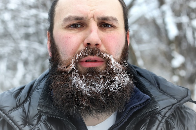 Chapeau homme barbu hiver