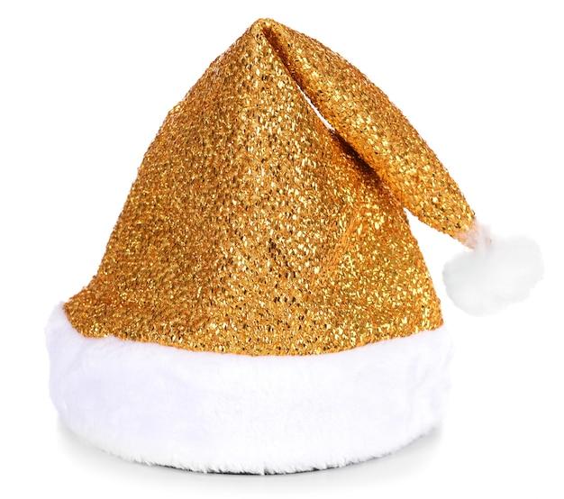 Chapeau de noël isolé sur blanc