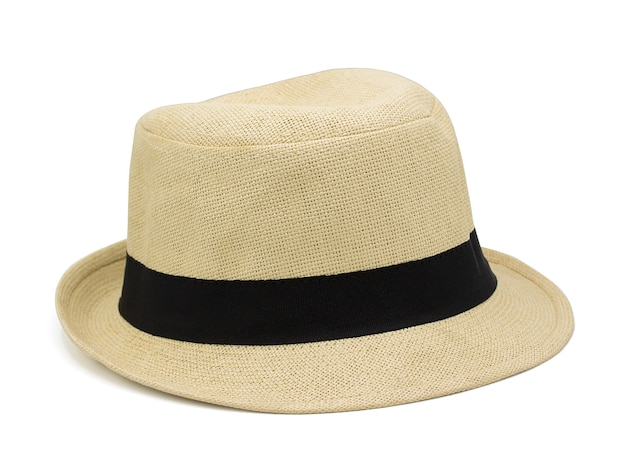 Chapeau de paille isolé