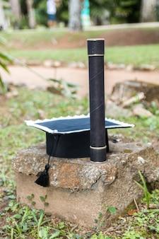 Chapeau de remise des diplômes et paille à rio de janeiro, au brésil.