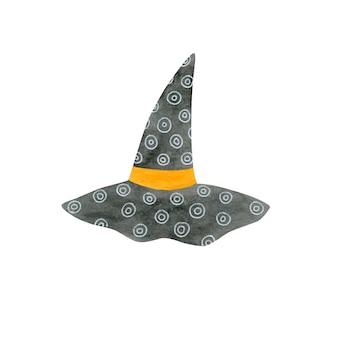 Chapeau de sorcière aquarelle vacances halloween isolé sur fond blanc