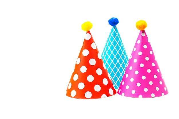 Chapeaux colorés pour fête