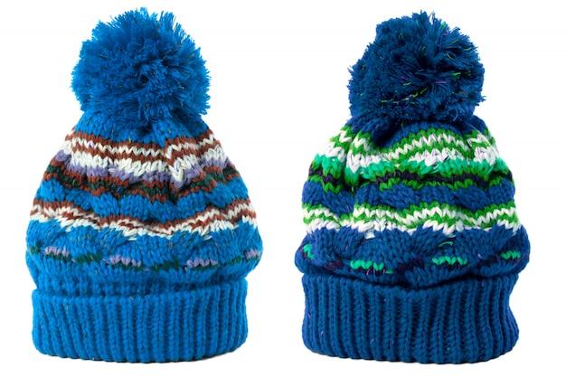 Chapeaux d'hiver avec ballon sur le dessus