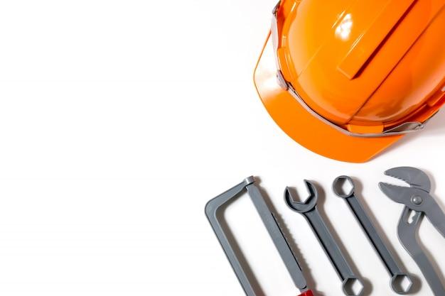 Les chapeaux, les ingénieurs et les techniciens sont des outils et sont utilisés dans la planification financière, la copie d'espace.