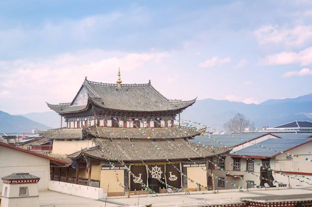 Chapelle dans le temple du tibet en chine