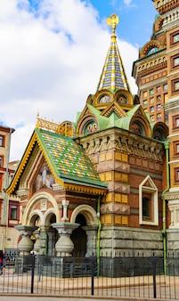 Chapelle latérale de l'église du sauveur sur le sang répandu en russie.