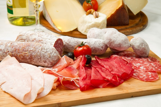 Charcuterie et fromage