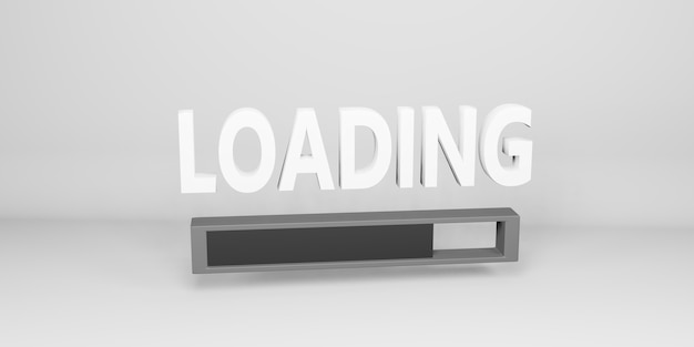 Chargement du texte et des symboles sur une illustration 3d de fond simple