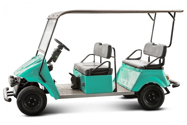 Chariot de golf isolé