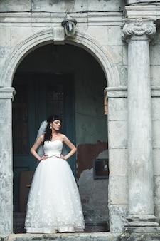 Charmante femme le jour de son mariage