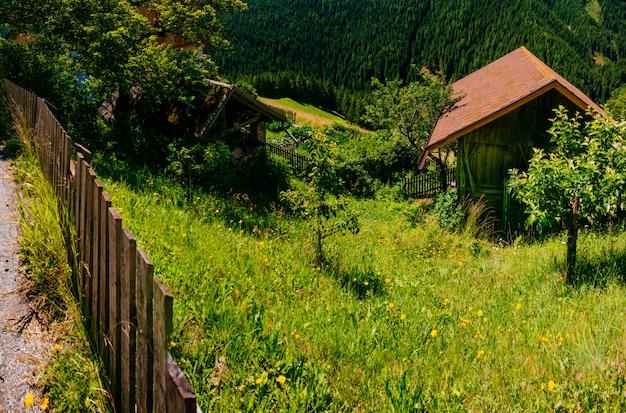 Charmante maison en journée ensoleillée d'été