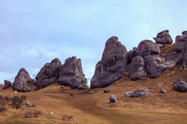 Château colline arthur's pass parc national le plus populaire destination de voyage en nouvelle-zélande