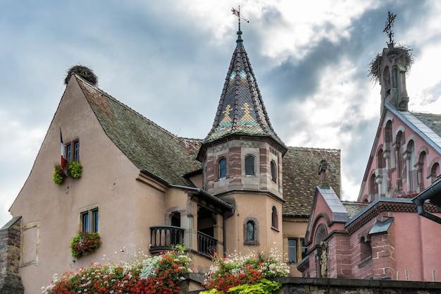 Château à eguisheim dans le haut-rhin alsace