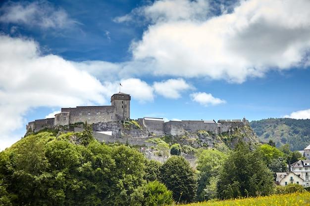 Château fort de lourdes en france