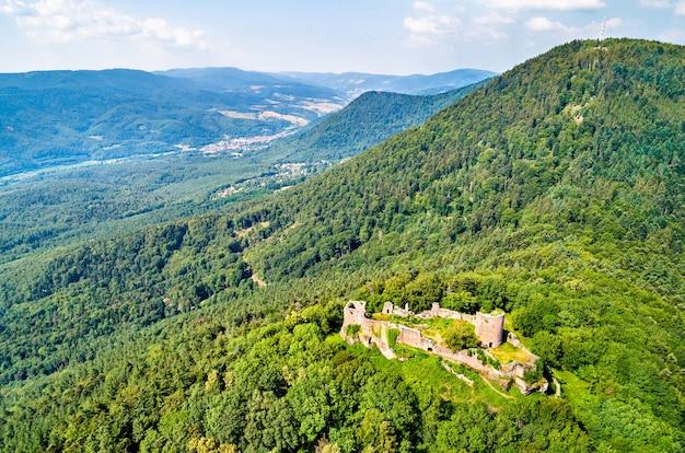 Château de frankenbourg dans les vosges, le département du bas-rhin de la france