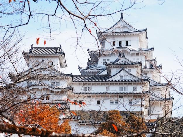 Château de himeji en automne, japon.