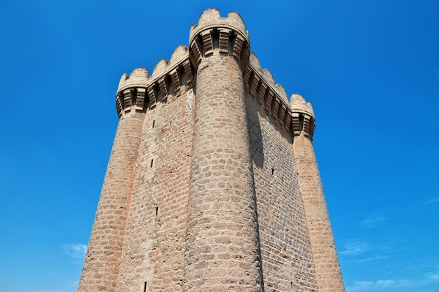 Château de mardakan en azerbaïdjan, péninsule d'absheron