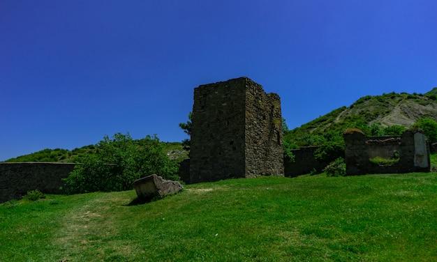 Château nichbisi dans le centre de la géorgie