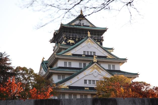 Château d'osaka en automne