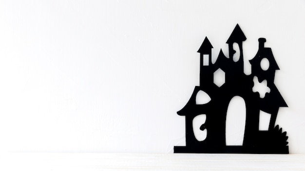 Château de papier effrayant pour halloween