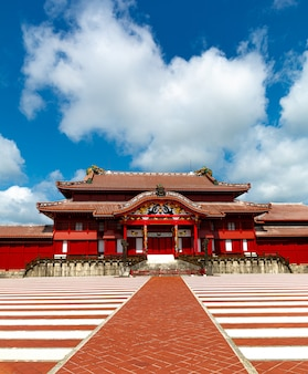 Le château de shuri, naha, okinawa, japon. un des château famouse à okinawa.