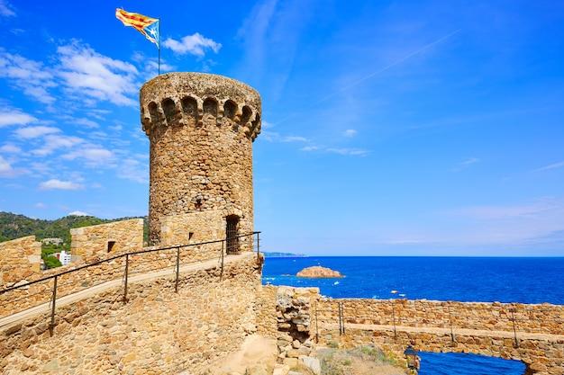 Château de tossa de mar sur la costa brava en catalogne