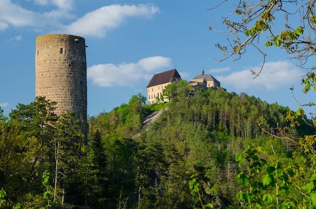Châteaux de zebrak et tocnik en république tchèque