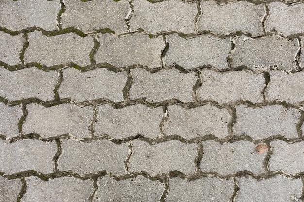 Chaussée de mousse et de saleté
