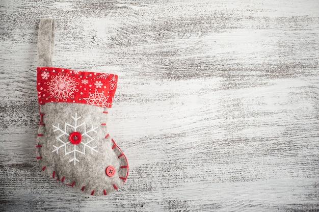 Chaussettes de père noël, arcs rouges