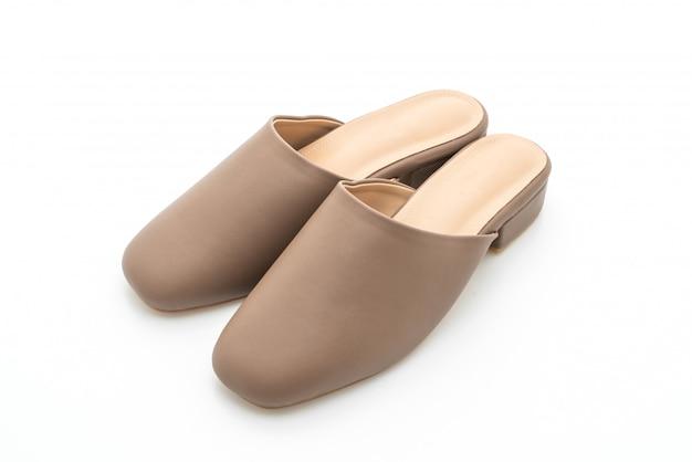 Chaussure en cuir de mode femme