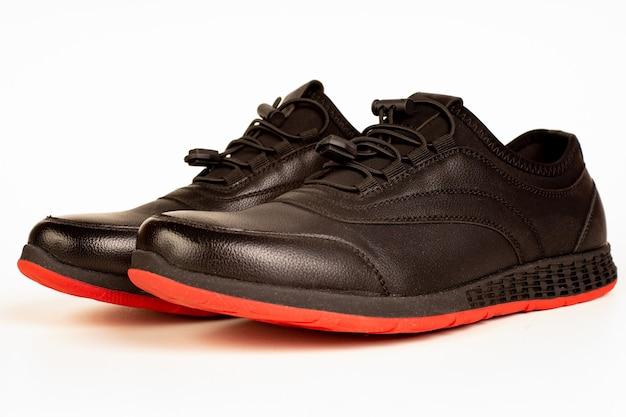 Chaussure de sport isolée en gros plan
