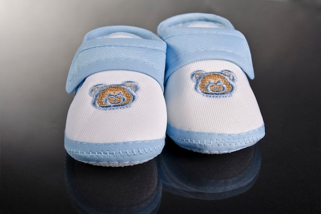 Chaussures bébé garçon bleues
