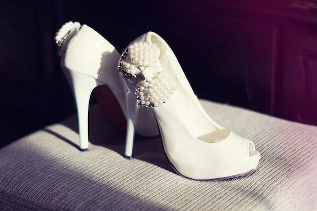 Chaussures blanches pour femmes chics