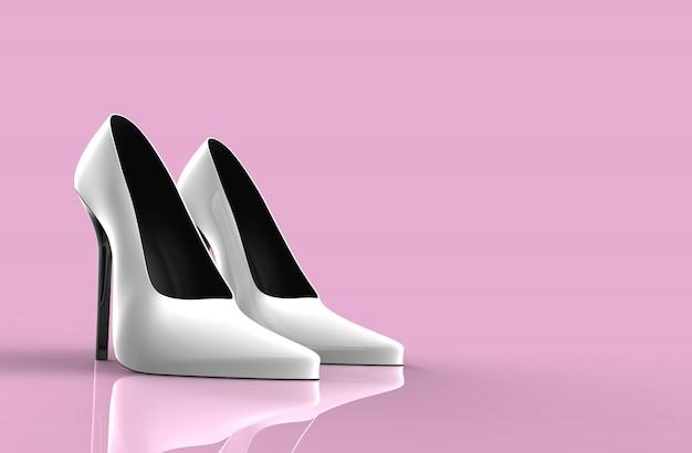 Chaussures blanches à talons hauts