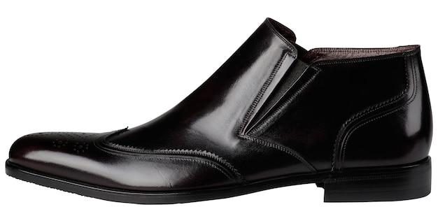 Chaussures classiques pour hommes noirs isolés sur blanc