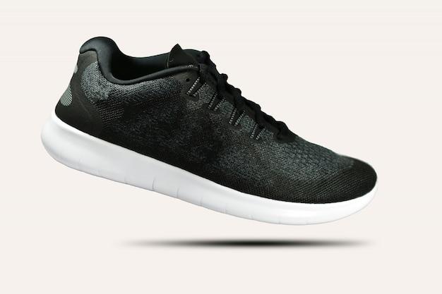 Chaussures de course sur fond blanc