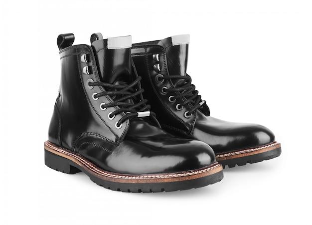 Chaussures en cuir noir pour homme