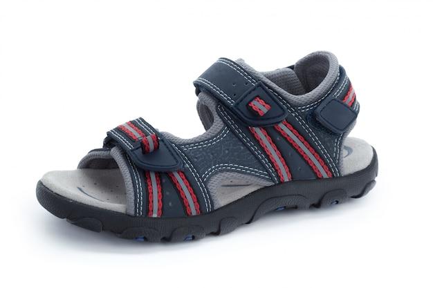 Chaussures enfants isolés sur la vue de face blanche