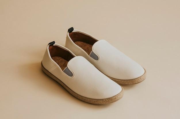 Chaussures à enfiler espadrilles blanches pour homme