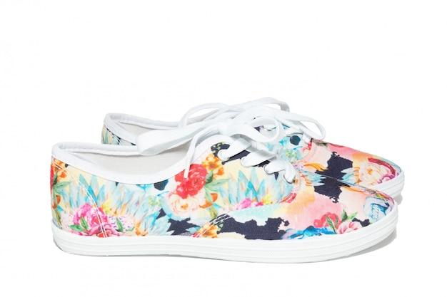 Chaussures sur fond blanc