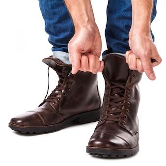 Chaussures de laçage homme