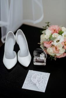 Chaussures de mariage de la mariée, belle mode