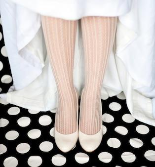 Chaussures de mariée et robe