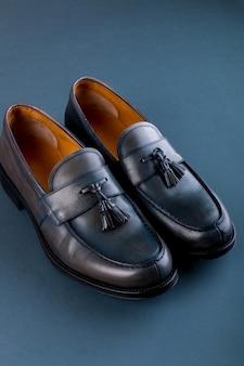 Chaussures mocassins bleues