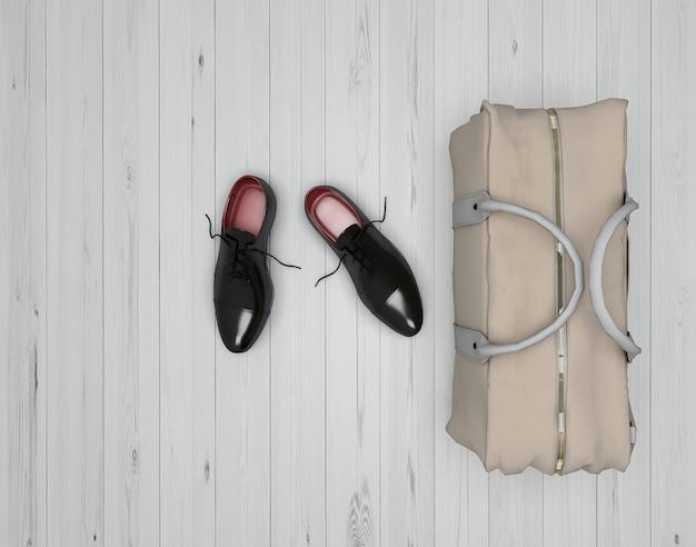 Chaussures noires avec sac en plus