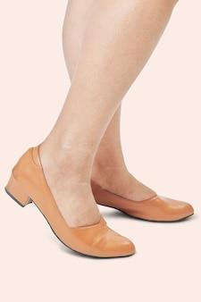Chaussures plates en cuir bleu à la mode pour femmes